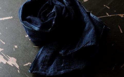 日本の古い藍染め