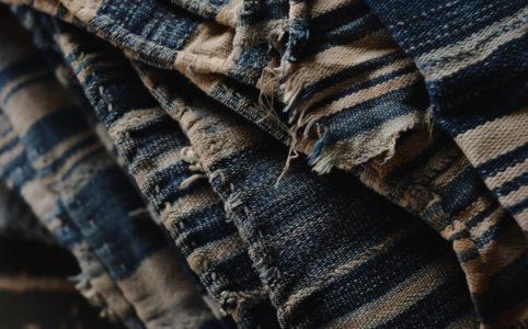 コートジボワールの藍染め古布