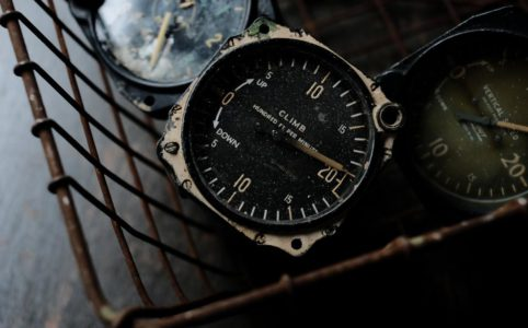 航空機に使われていた計器