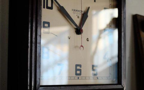 HAMMOND CLOCK Co. 'SYNCHRONOUS' 掛け時計 電池式クオーツムーブメント交換済み