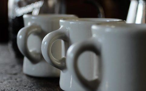 Victorの古いタイプのコーヒーマグ