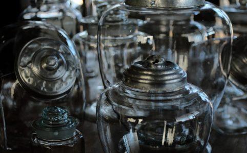 日本の古いガラス瓶いろいろ