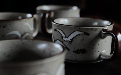 日本製ストーンウェアのスープカップ