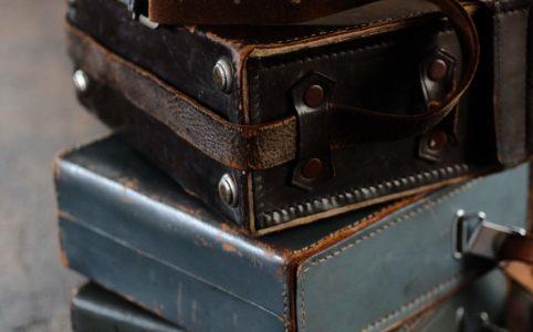 カメラ用のレザーバッグ