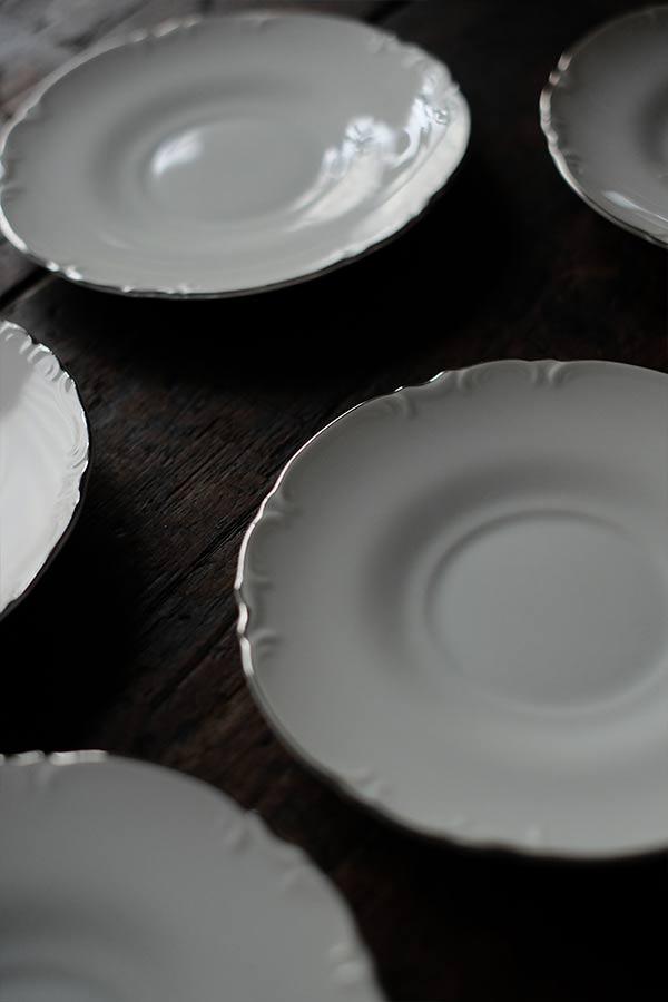 花リムのデザート皿
