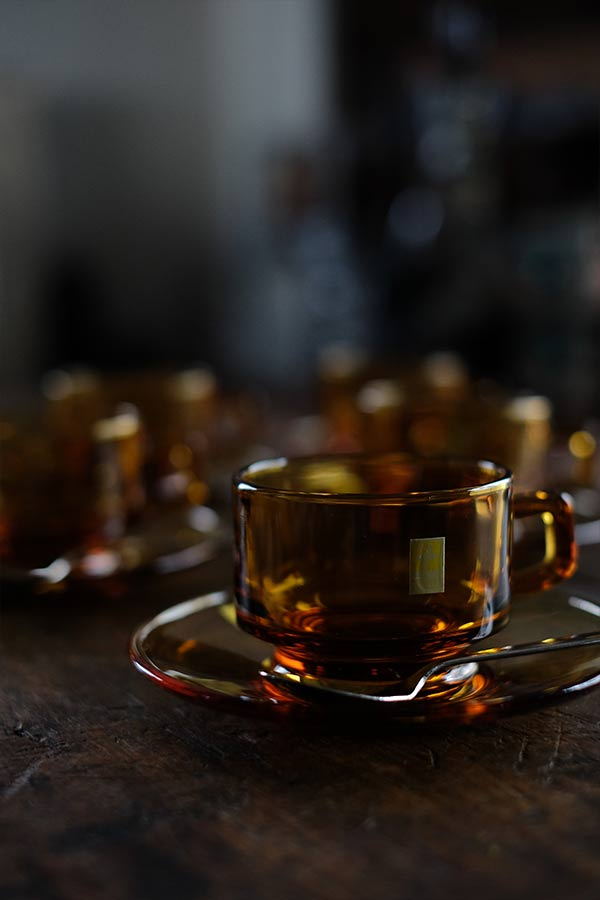曽我ガラスのカップ&ソーサー