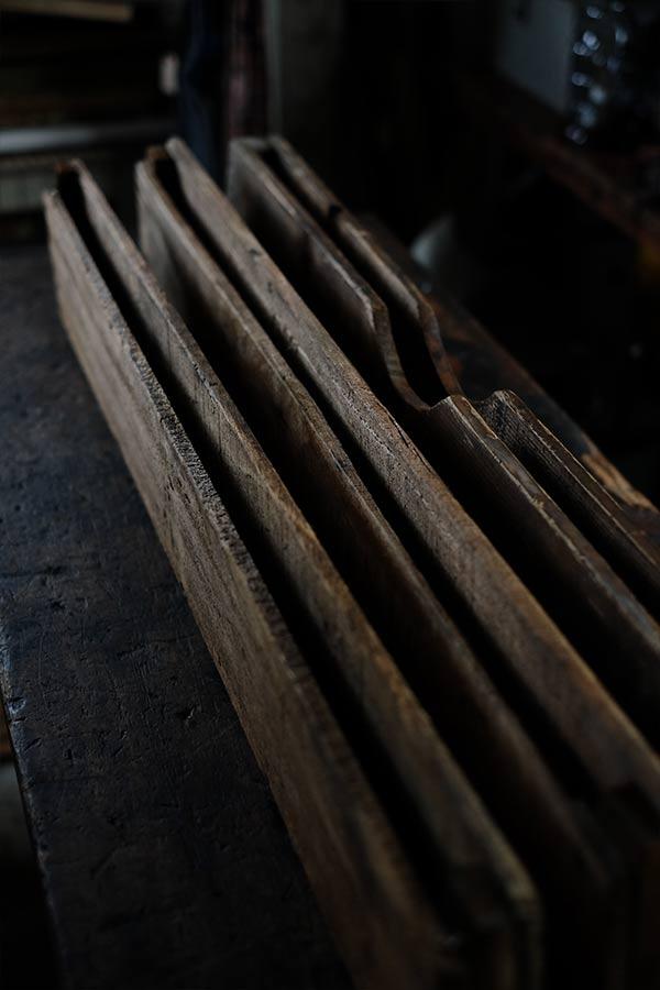 印刷会社で使われていた細長いトレイ