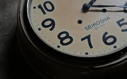 昭和初期 SEIKOSHA(精工舎)掛け時計 電池式クオーツムーブメント交換済み